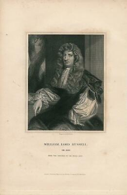 William Lord Russell scarce 1831 antique English U.K. Portrait print