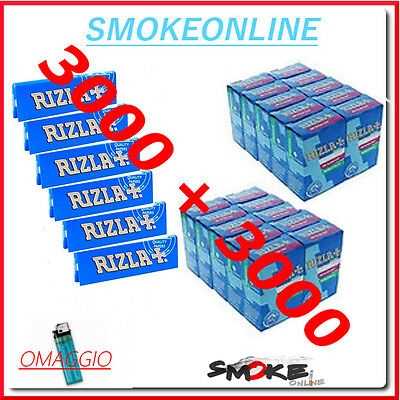 Cartine Rizla Blu Corte 3000 + 3000  Filtri Rizla Slim 6mm