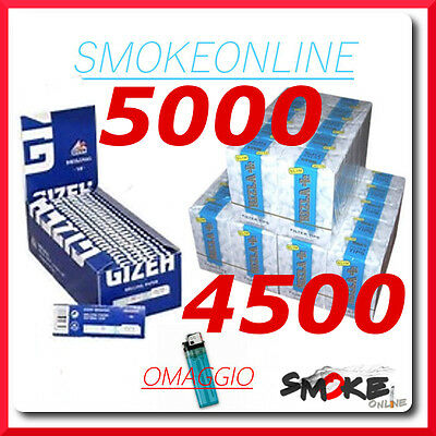 5000 cartine Gizeh blu original corte e 4500 Filtri Rizla SLIM 6 mm