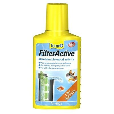 Tetra FilterActive Live Bacteria Filter Active 100ml Biological Additive New