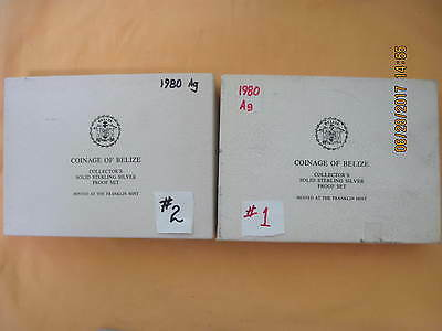 Belize 1980 Proof Set Sterling Silver