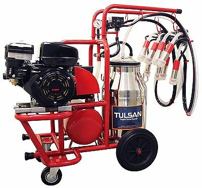 Portable Milking Machine/2 Cows/1 Bucket/Electric and Gas Operated by Tulsan