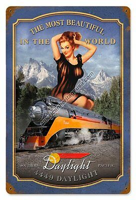 Daylight Vintage Pin-Up Metal Sign