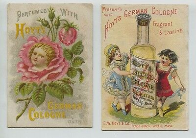 2 Victorian Trade Card Hoyt's German Cologne  Lowell , MA