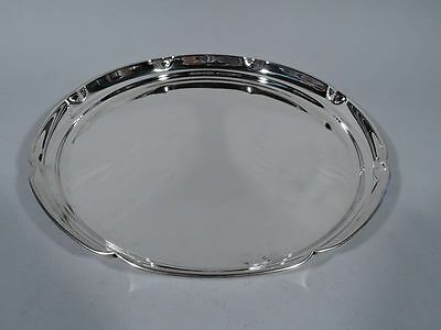 Cartier Tray - 245/11 - Round Circular Serving - American Sterling Silver