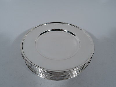 Tiffany Plates - 18249 - 12 Bread & Butter Butters - American Sterling Silver