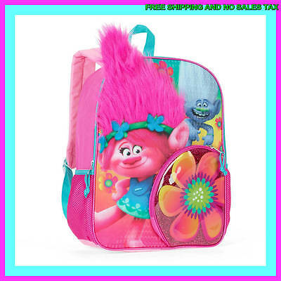 TROLLS Poppy Pink Hair Backpack 16 Inch Large School BOOK BAG ~ NEW! SHIPS TODAY