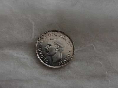 1947 Canadian Canada Dime Bu Uncirculated Toning Nice Ten Cents No Maple Leaf