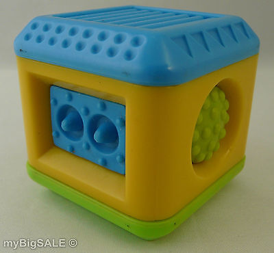 Fisher Price Peek Blocks Tactile Touch Raised Dots Blue Green Replacement Block