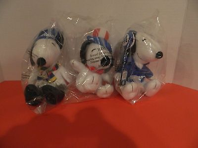 Peanuts Snoopy LOT of 3 MetLife Promotional Advertising Stuffed PLUSH  BRAND NEW