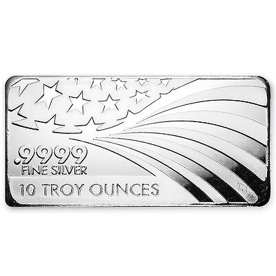 10 oz Silver Bar - APMEX/RMC (.9999 Fine, Co-Branded) - SKU #91242