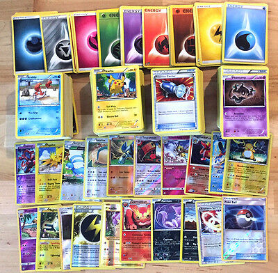 500 Pokemon Trading Cards TCG With 90 Basic Energy! Includes Foils & FOIL RARES!