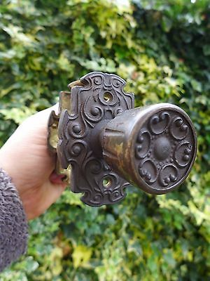 Vintage antique beautiful brass door handle knobs with brass covers project