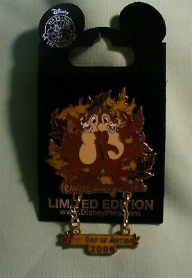 Walt Disney World Chip & Dale First Day of Autumn 2006 LE Pin