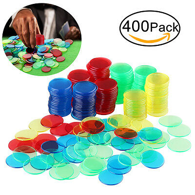 ROSENICE 400pcs Professional 3/4 inch Bingo Game Chips 100 each of 4colors