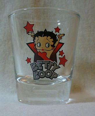 Betty Boop Arms Up Stars Shot Glass