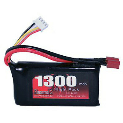 Redback RC 1300 Mah 3S 11.1V 25C Lipo Battery With Deans Plug OZRC Models