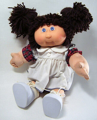 25th Anniversary Collectible Cabbage Patch Doll with Brown Hair Violet Eyes