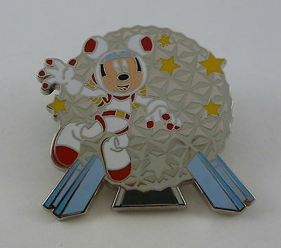 Walt Disney World Mickey Mouse Spaceship Earth Characters at Epcot Booster Pin