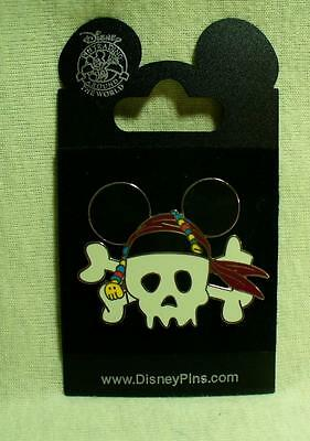 Disney Pirate Skull with Mouse Ears Pin