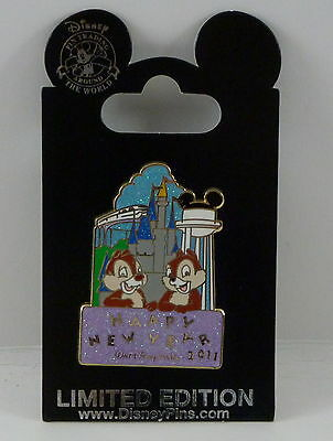 Walt Disney World Chip & Dale Happy New Year 2011 LE Pin