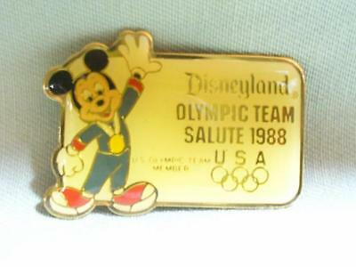 Disneyland 1988 Olympic Team Mickey Mouse Pin