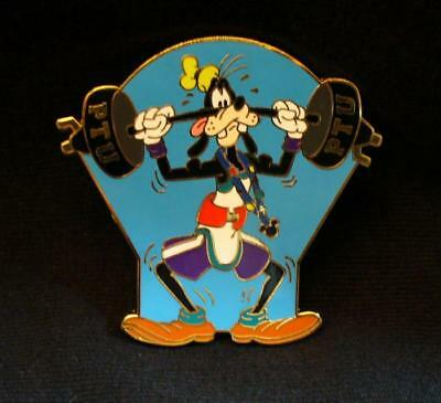 WDW Disney 2008 PTU Mystery Tin Goofy Weightlifting Pin