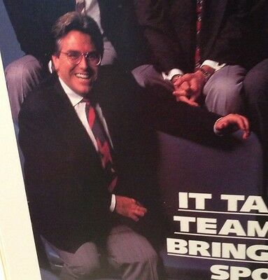 Mike Francesa MSG WFAN Print Ad The Mad Dog 1994 NY Rangers Stanley Cup Program