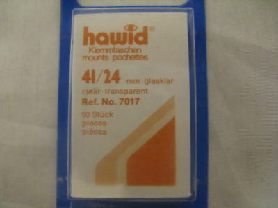 250 (5x50) HAWID 41/24MM CLEAR STAMP MOUNTS -COMMS HORZ - SUPPLIES