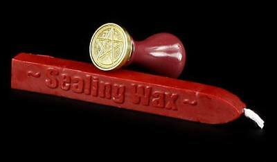 Pentacle Seal with red Wax - Postmark Magic Ritual Protection