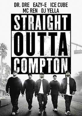 Straight Outta Compton Poster Movie NWA Quality Large FREE P+P, CHOOSE YOUR SIZE