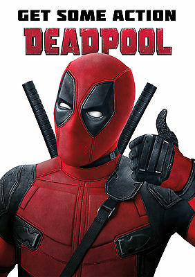 Deadpool Poster Movie Marvel Superhero Large, Quality FREE P+P  CHOOSE YOUR SIZE