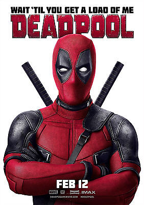 Deadpool Poster Movie Marvel Superhero Large Quality, FREE P+P, CHOOSE YOUR SIZE