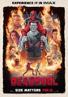 Deadpool Poster Movie Marvel Superhero Quality Large, FREE P+P, CHOOSE YOUR SIZE