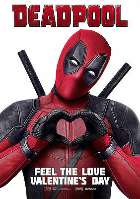Deadpool Poster Movie Marvel Superhero Large Quality, FREE P+P  CHOOSE YOUR SIZE