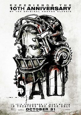 SAW Poster Jigsaw Classic Hit Horror Movie Series, FREE P+P, CHOOSE YOUR SIZE