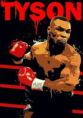 MIKE TYSON BOXING PREMIUM LARGE GICLEE CANVAS ART Choose your size