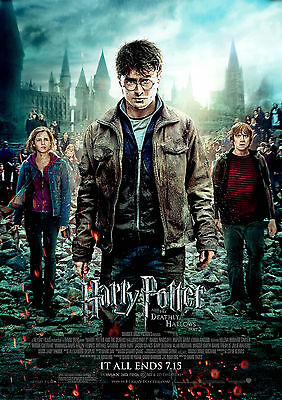 Harry Potter Poster Deathly Hallows Part 2 Hit Movie, FREE P+P, CHOOSE YOUR SIZE