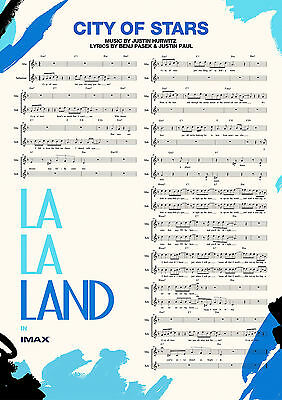 La La Land Poster 2017 New Musical Movie City of Stars FREE P+P CHOOSE YOUR SIZE