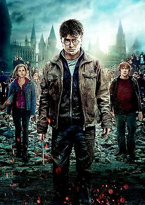 Harry Potter Poster Hit Movie Deathly Hallows Part 2, FREE P+P, CHOOSE YOUR SIZE
