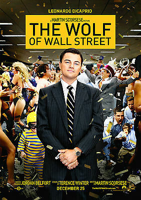 The Wolf of Wall Street Poster Di Caprio Robbie Movie FREE P+P, CHOOSE YOUR SIZE
