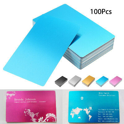 100Pcs 0.22mm Thickness Laser Engraved Metal Business Cards Blanks 3.4x2.1 Inch