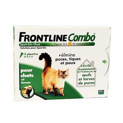 Merial Chats FRONTLINE COMBO Chat 3pip Anti puce, anti tique