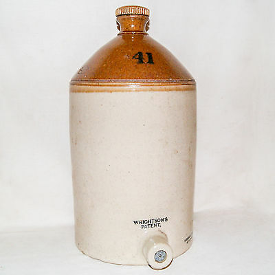 Bonbonne Biere Beer Keg Wrightsons Patent Kendall & Sons Lambeth Pottery 1914-21