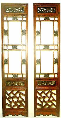 Antique Chinese Screen Panels (2688)(Pair) Cunninghamia Wood, Circa 1800-1849