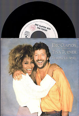 Eric Clapton With Tina Turner Tearing Us Apart + Hold On 1987 Italy