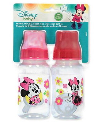"Disney Minnie Mouse ""Sitting Pretty"" 2-Pack Wide-neck Bottles (11 oz.)"