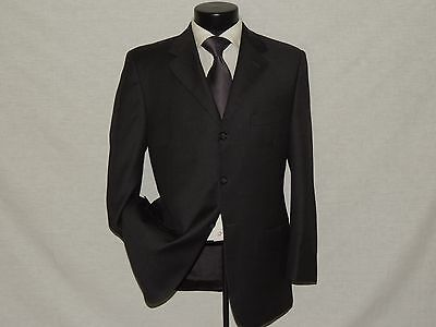 D-749 Pronto Uomo made in ITALY men's Gray 100% wool suit jacket coat pant 40 S