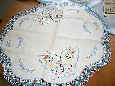 Vintage Handmade Round Tablecloth 26""