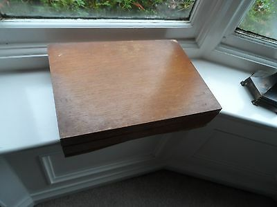 Large Vintage Empty Wooden Cutlery Display Box No Reserve